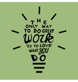 Light bulb from quote vector image