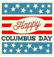 Happy Columbus Day vector image