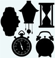 Devices quantifiable time different clock vector image