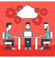 Business team brainstorming vector image
