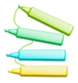 Colored Highlighter Pens Set vector image vector image