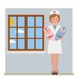 Baby nurse vector image