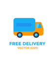 delivery icon on white vector image