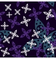 Magic Flower Seamless Pattern vector image
