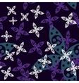 Magic Flower Seamless Pattern vector image