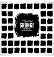 Set of grunge squares vector image