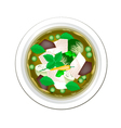 Thai Green Curry with Chicken and Eggplant vector image