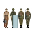 Uniforms of the British Army since 2000-1 vector image vector image