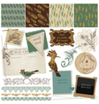 Design Elements - Vintage Bird Feathers vector image