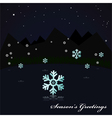 Snowing on the lake at night vector image