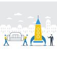 Delivery logistics company idea vector image