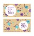 Gift voucher template Both sides Envelope size vector image