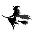 halloween ghosts silhouettes vector image vector image