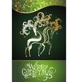 Christmas decorative deers vector image vector image