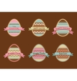 Happy Easter - set of stylish eggs icons vector image