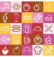 set of food and cafe logos and signs vector image vector image