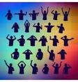Set silhouettes DJ vector image