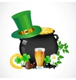 pot with gold vector image
