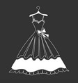 beautiful dress silhouette vector image