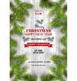 Christmas party template background decoration vector image