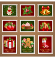 Christmas postage set vector image