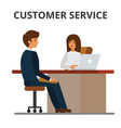 customer service bank office client getting vector image