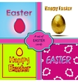 Happy Easter cards set with eggs vector image
