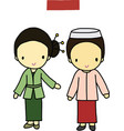 Indonesia traditional costume vector image