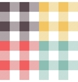 Set of four colored patterns vector image