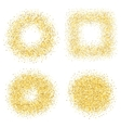 Set of six golden sand glitter effect good for vector image