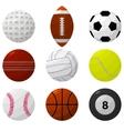 Sport Ball Set for Different Games vector image