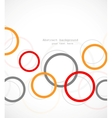 Abstract tech background with circles vector image vector image