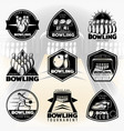 black vintage active leisure labels set vector image