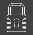 padlock line icon security and lock vector image