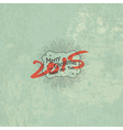 new year 2015 vintage styled design vector image