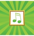 16th note picture icon vector image