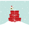 Winter card with bird vector image vector image