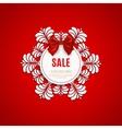 Christmas sale design template Christmas sale vector image