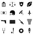 american icon set vector image