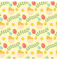 Cute Easter seamless pattern with chick eggs and vector image