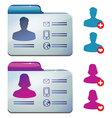 Female and male profile for social media - vector image