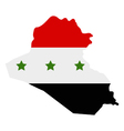 iraq flag vector image