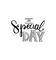 its special day vector image