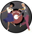 Retro dance vector image