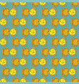yellow funny fish seamless pattern vector image