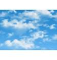 cloudy sky vector image