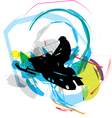 Snow ski vector image vector image