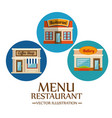 food-related places design vector image