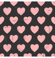 Chalkboard style seamless hearts vintage pattern vector image vector image