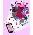 online shop for women vector image vector image